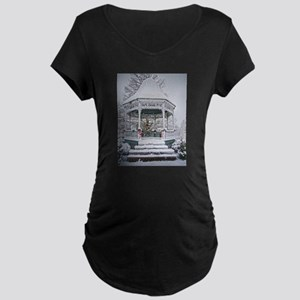 Courthouse Gazebo in the Snow Maternity T-Shirt