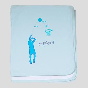 Basketball Shooter Quadratic Equation baby blanket