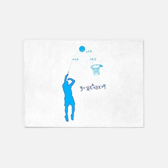 Basketball Shooter Quadratic Equati 5'x7'Area Rug