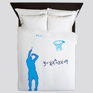 Basketball Shooter Quadratic Equation Queen Duvet
