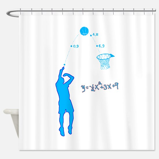 Basketball Shooter Quadratic Equati Shower Curtain