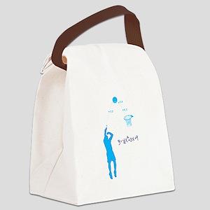 Basketball Shooter Quadratic Equa Canvas Lunch Bag