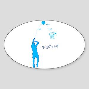 Basketball Shooter Quadratic Equation Sticker