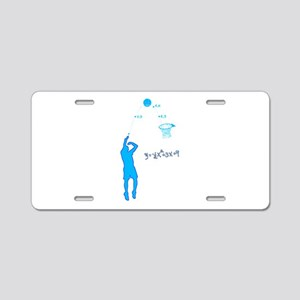 Basketball Shooter Quadrati Aluminum License Plate