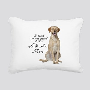 Yellow Lab Rectangular Canvas Pillow
