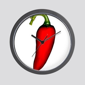 Red Jalapeno Pepper Wall Clock