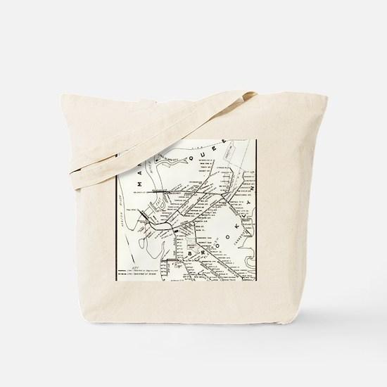 Unique Subway map Tote Bag