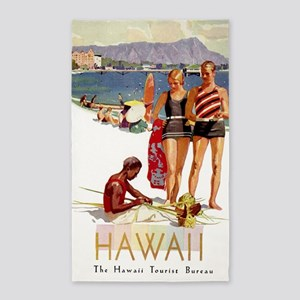 Hawaii, Diamond Head, Vintage Travel Poster Area R