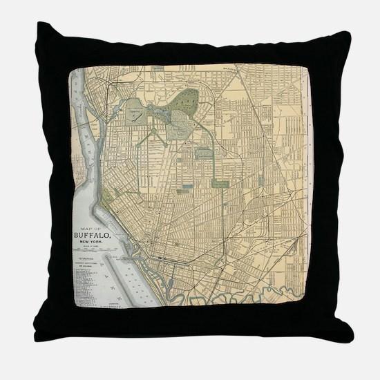 Cute New york streets Throw Pillow