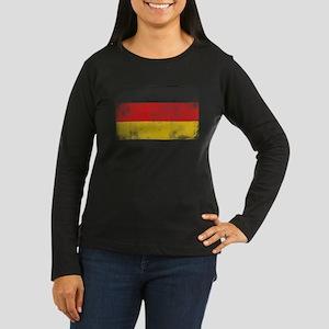 Distressed German Flag Long Sleeve T-Shirt