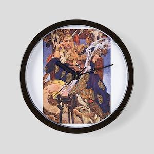 Celtic Queen Maev by Leyendecker Wall Clock