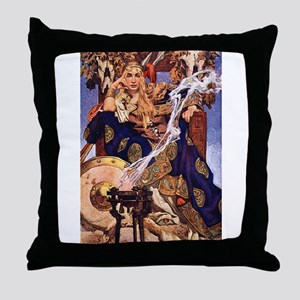Celtic Queen Maev by Leyendecker Throw Pillow