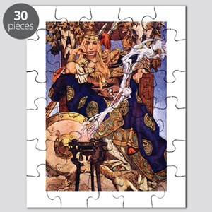 Celtic Queen Maev by Leyendecker Puzzle
