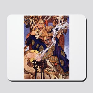 Celtic Queen Maev by Leyendecker Mousepad