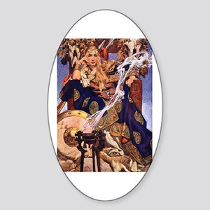 Celtic Queen Maev by Leyendecker Sticker (Oval)