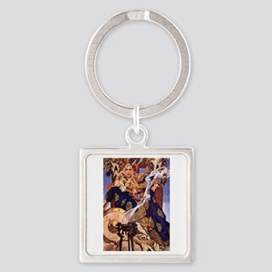 Celtic Queen Maev by Leyendecker Square Keychain