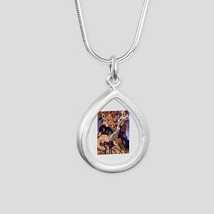 Celtic Queen Maev by Ley Silver Teardrop Necklace