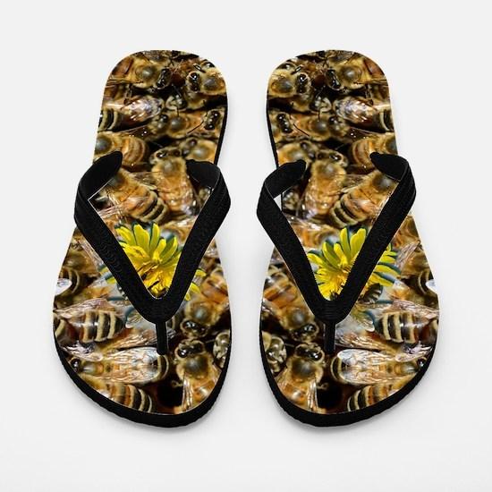 Bees Flip Flops