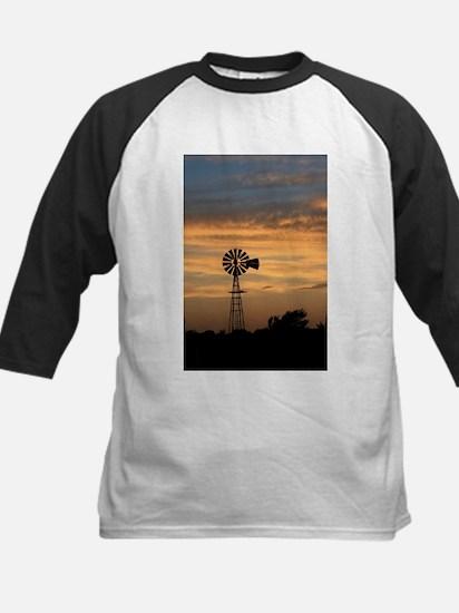 Golden Windmill Sunset Baseball Jersey