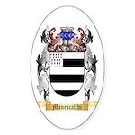 Manescalchi Sticker (Oval)