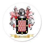 Manelis Round Car Magnet