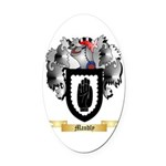 Mandly Oval Car Magnet