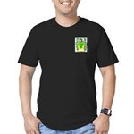Mandel Men's Fitted T-Shirt (dark)