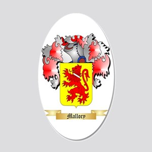 Mallory 20x12 Oval Wall Decal