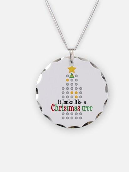 Elf Christmas Tree Necklace