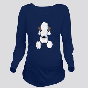 KiniArt Bedlington T Long Sleeve Maternity T-Shirt