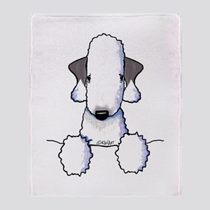 KiniArt Bedlington Terrier Throw Blanket