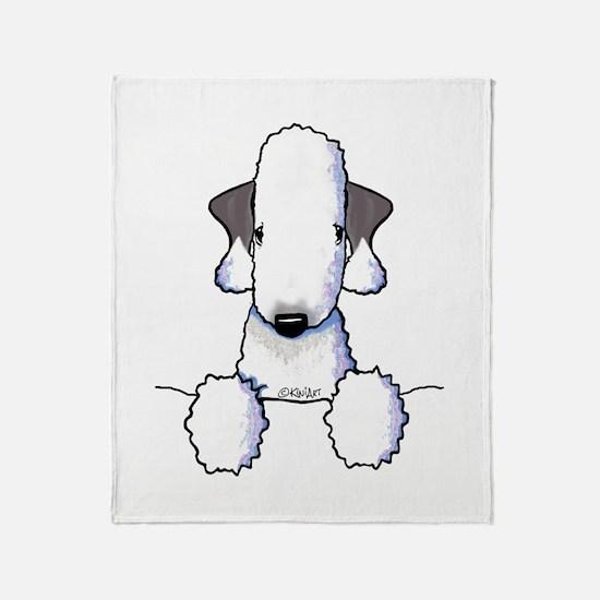 KiniArt Bedlington Terrier Throw Blanket