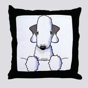 KiniArt Bedlington Terrier Throw Pillow