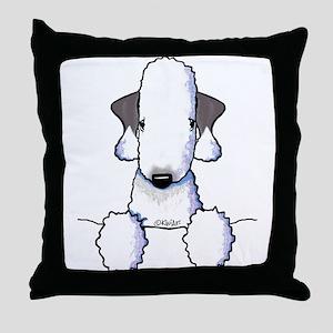 KiniArt Bedlington Terrier Throw Pillow