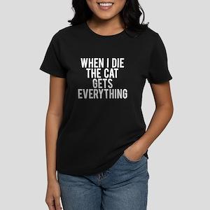 Cat gets everything Women's Dark T-Shirt