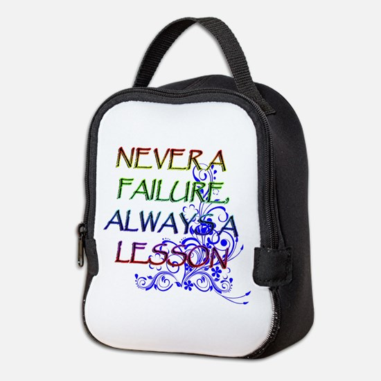 NEVER A FAILURE Neoprene Lunch Bag