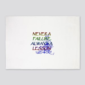 NEVER A FAILURE 5'x7'Area Rug