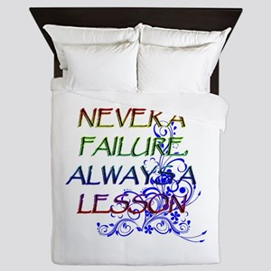 NEVER A FAILURE Queen Duvet
