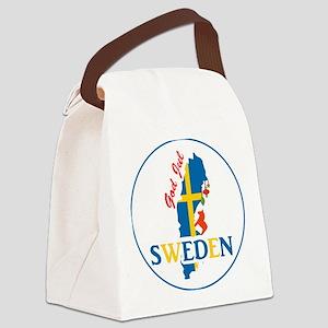 God Jul Sweden Map Canvas Lunch Bag