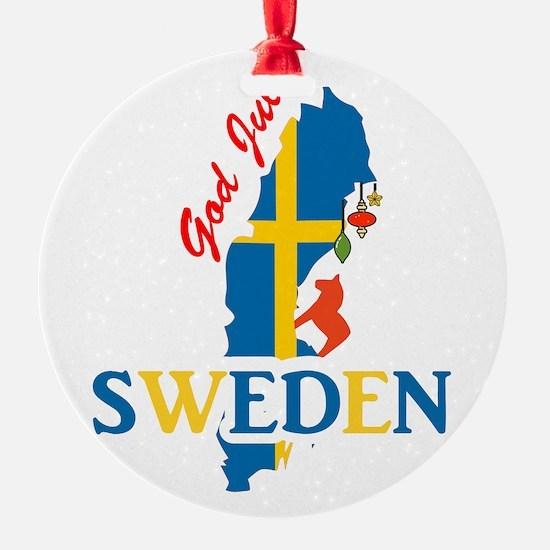 God Jul Sweden Map Ornament