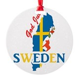 Christmas sweden Round Ornament