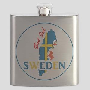 God Jul Sweden Map Flask