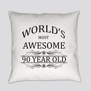 90th. Birthday Everyday Pillow