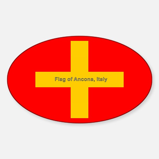 Flag of Ancona Italy Decal