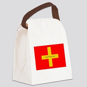 Flag of Ancona Italy Canvas Lunch Bag