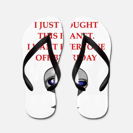 alien invasion Flip Flops