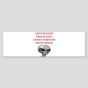 alien invasion Bumper Sticker