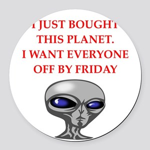 alien invasion Round Car Magnet