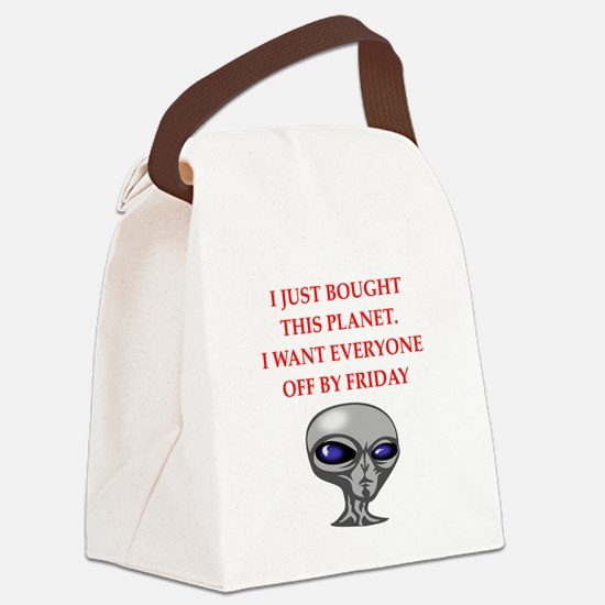 alien invasion Canvas Lunch Bag
