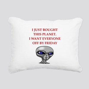 alien invasion Rectangular Canvas Pillow